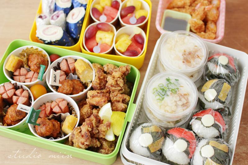 IMG 6488 - 【運動会弁当】男の子も喜ぶ!100均お弁当カップ・ピックで可愛い運動会のお弁当