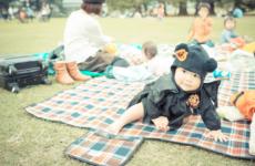 カメラを持って新宿御苑♪ 赤ちゃん連れで秋のハロウィンピクニックにでかけよう!