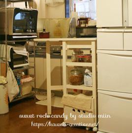 20110920 1376552 - 【賃貸暮らし】うちの狭いキッチンの収納棚
