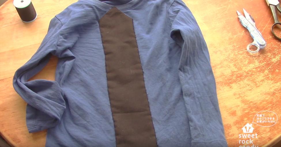 rupan make 11 - 【戦隊モノ】100均フェルトでルパンレンジャーの衣装の作り方